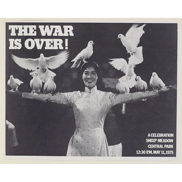 Poster for War is Over rally in Central Park 1975