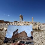 A photo of the Temple of Bel taken on March 14, 2014, in front of the remains of the historic temple. The monument was destroyed by Islamic State jihadists in October 2015. This photo was taken by Joseph Eid for AFP, all other photos for this story are by the author or other members of the delegation.