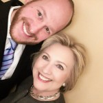 NY city councilman David Greenfield w/ Hillary Clinton at fundraiser in NY on April 5, 2016
