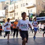 Streets closed down in Bethlehem on Friday, as the marathon snaked through the city. (Photo: Sheren Khalel/Mondoweiss)