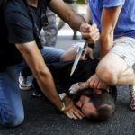 Yishai Shlissel, tackled on ground after attack at Gay Pride parade, and knife taken from him -- without killing him