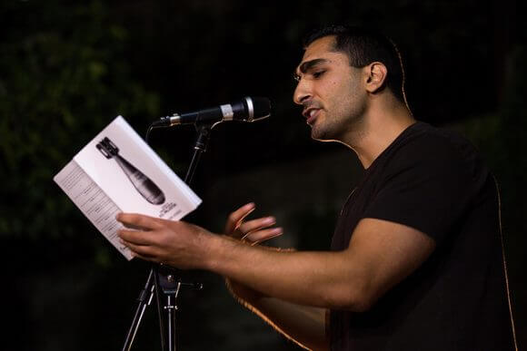 RAMALLAH, PALESTINE - MAY 27: Remi Kanazi performs at the closing event at the Sakakini Cultural Centre May 27, 2016 in Ramallah, Palestine. (Rob Stothard for The Palestine Festival of Literature)