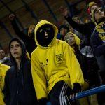Hardcore Beitar Jerusalem fans known as La Familia have become infamous with their chants of 'death to Arabs'. Photograph: Bernat Armangue/AP