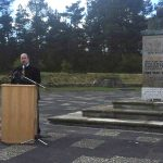 Dore Gold at the Holocaust Remembrance Day service at Bergen-Belsen concentration camp, photo by Israeli Ministry of Foreign Affairs