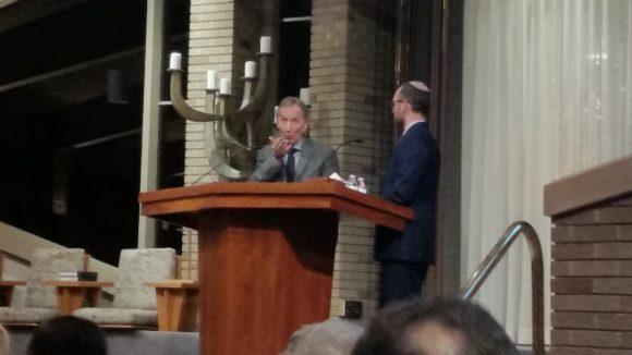 David Horovitz and Rabbi Michael Friedman, Temple Israel in Westport, CT