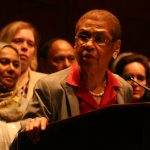 D.C. Delegate Eleanor Holmes Norton addressing a press conference on the Freedom of Religion Act. (Photo: Wilson Dizard)