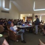 Brown and RISD students discuss the Nakba at Hillel. (Photo provided by Sophie Kasakove)