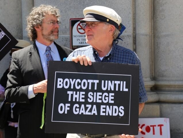 Demonstration in Support of the Right to Boycott and BDS, Albany N.Y. June 15, 2016