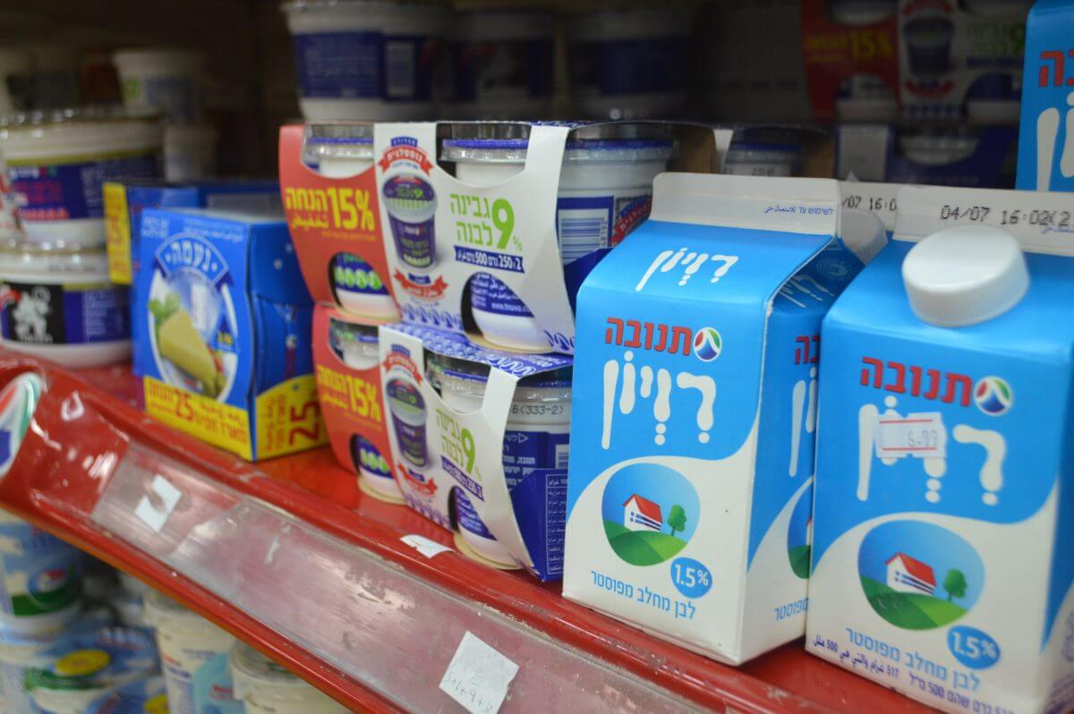 Israeli products can still be found throughout West Bank markets, but imports from Israel have decreased significantly. (Photo: Sheren Khalel/Mondoweiss)