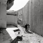 Children on their way to school along the West Bank Barrier, 2007 (Photo: J.C. Tordai/UNRWA)