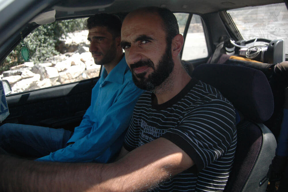 Stuck in traffic at an Israeli checkpoint.(Photo: Allison Deger)