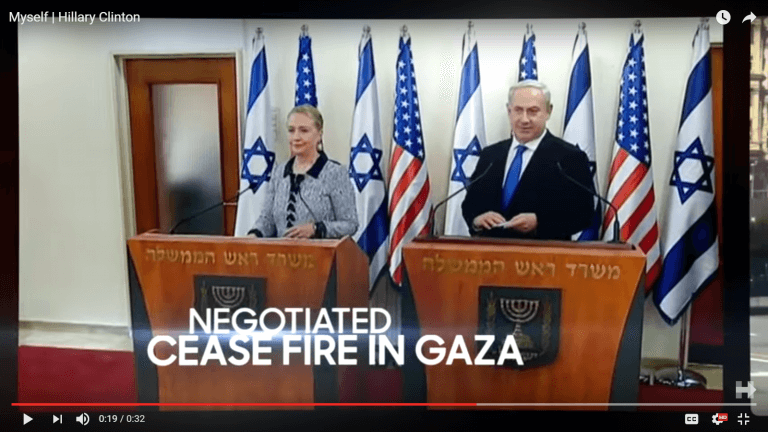 Hillary Clinton publicizes her closeness to Benjamin Netanyahu in her latest anti-Trump ad