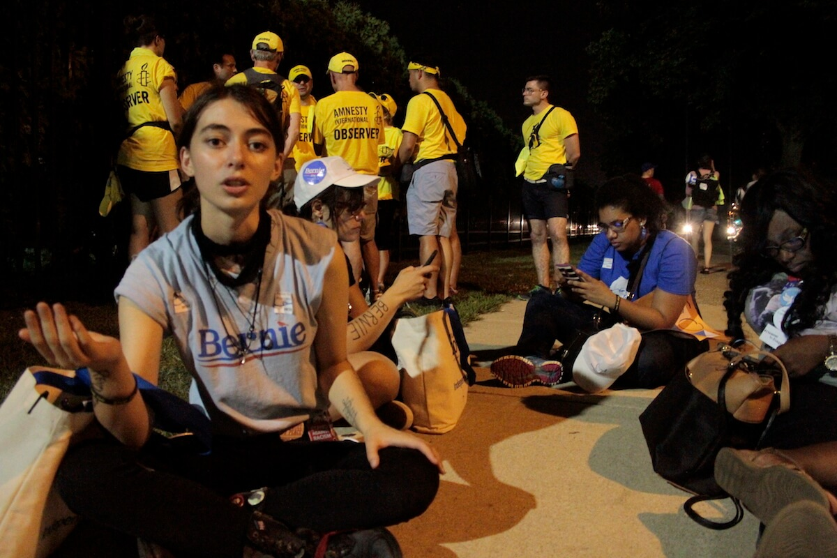 Giselle Herzfeld, 19, explains that Clinton doesn't deserve her vote if it's only done out of fear. (Photo: Wilson Dizard)