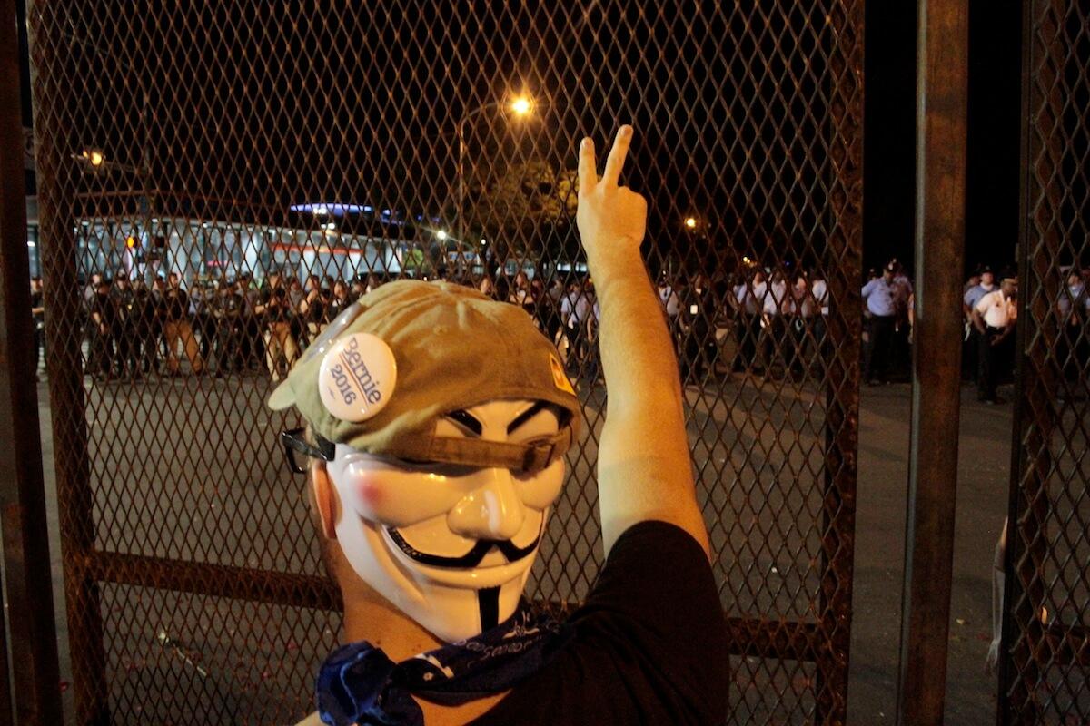 Protesters against the DNC (Photo: Wilson Dizard)