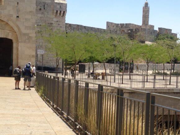Jaffa Gate as seen from Mamilla Mall