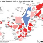 Countries scaled to the economic aid they receive from the U.S. – Graphic: howmuch.net
