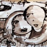One of Basel El-Maqosui's  paintings from the 2008-9 war on Gaza (photo: We Are Not Numbers)