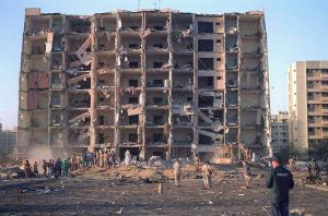 Khobar Towers after bombing in 1996