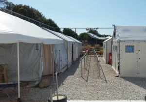 A transit camp for refugees in the north of the island of Lesbos. (Photo: Michaela Whitton)