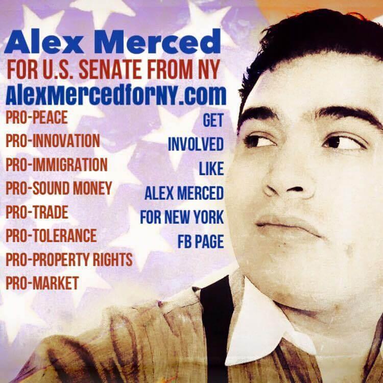 A web advertisement for Alex Merced (Image: alexmercedforny.com)