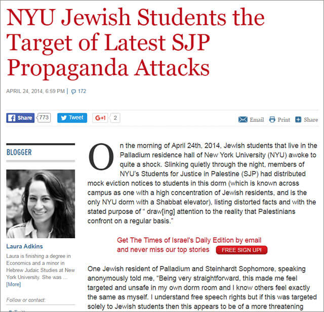 Adkins, Times of Israel blog post