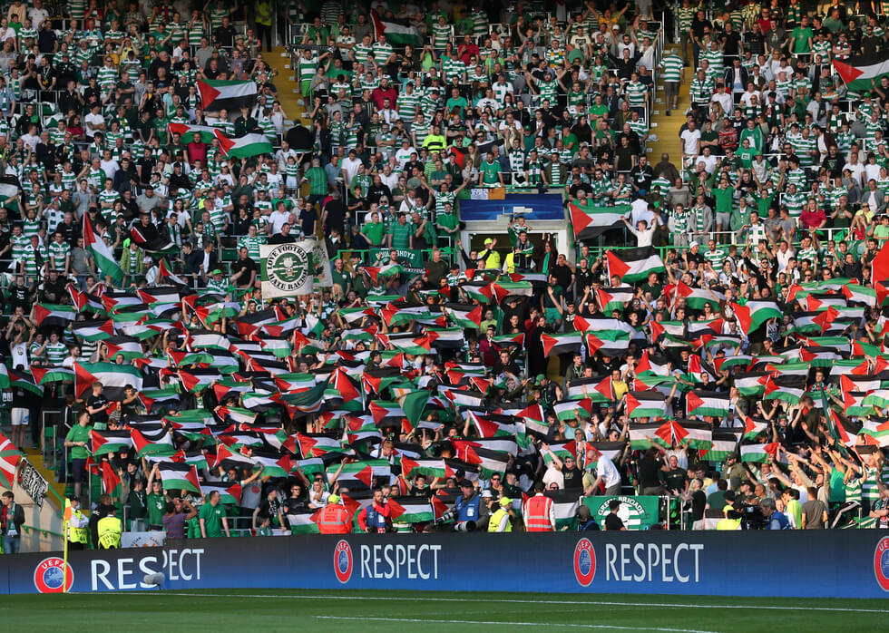 Celtic fans smash £110k target for Palestine charities