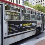 San Francisco SeaMAC Muni bus ad defends the right to boycott Israel (photo: SeaMAC)