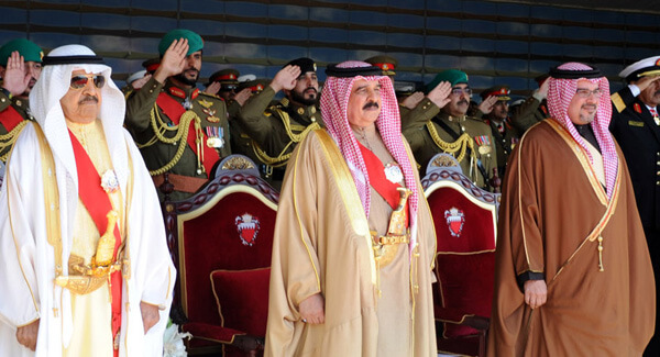 Crown Prince Salman, on right, in photo of Bahraini royals