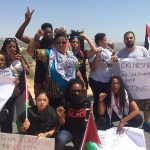 Delegates from the Movement for Black Lives join Palestinian organizers and activists in the West Bank village of Bilin during a weekly Friday protest against Israel's occupation and colonization, July 29, 2016. (Photo: Facebook)