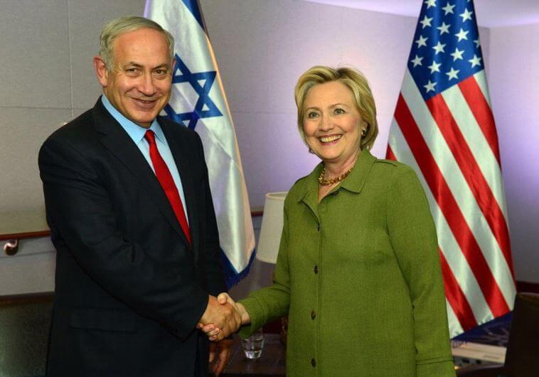 Israeli Prime Minister Benjamin Netanyahu meets Democratic Presidential Candidate Hillary Clinton in New York on Sunday. (Photo: Kobi Gideon/GPO)