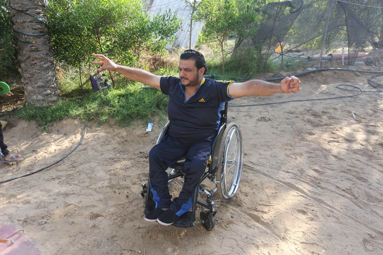 Hossam Azzum at the Al Jazeera Club where he trains. (Photo: Mohammed Asad)