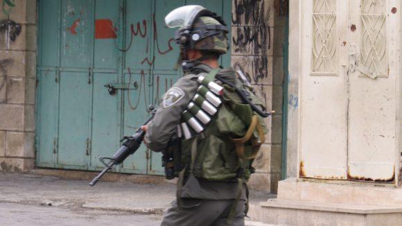 Israeli soldier in occupied Hebron