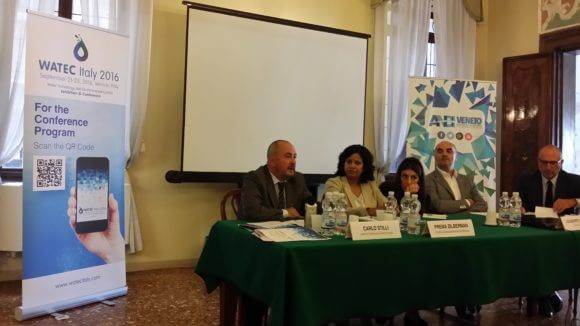 Watec press conference, Venice Italy