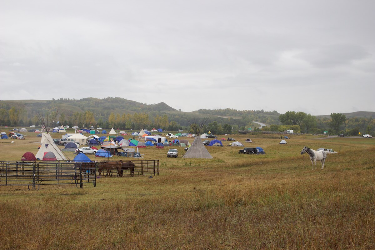 Oceti Sakowin Camp in the rain (Photo: Nadya Tannous)