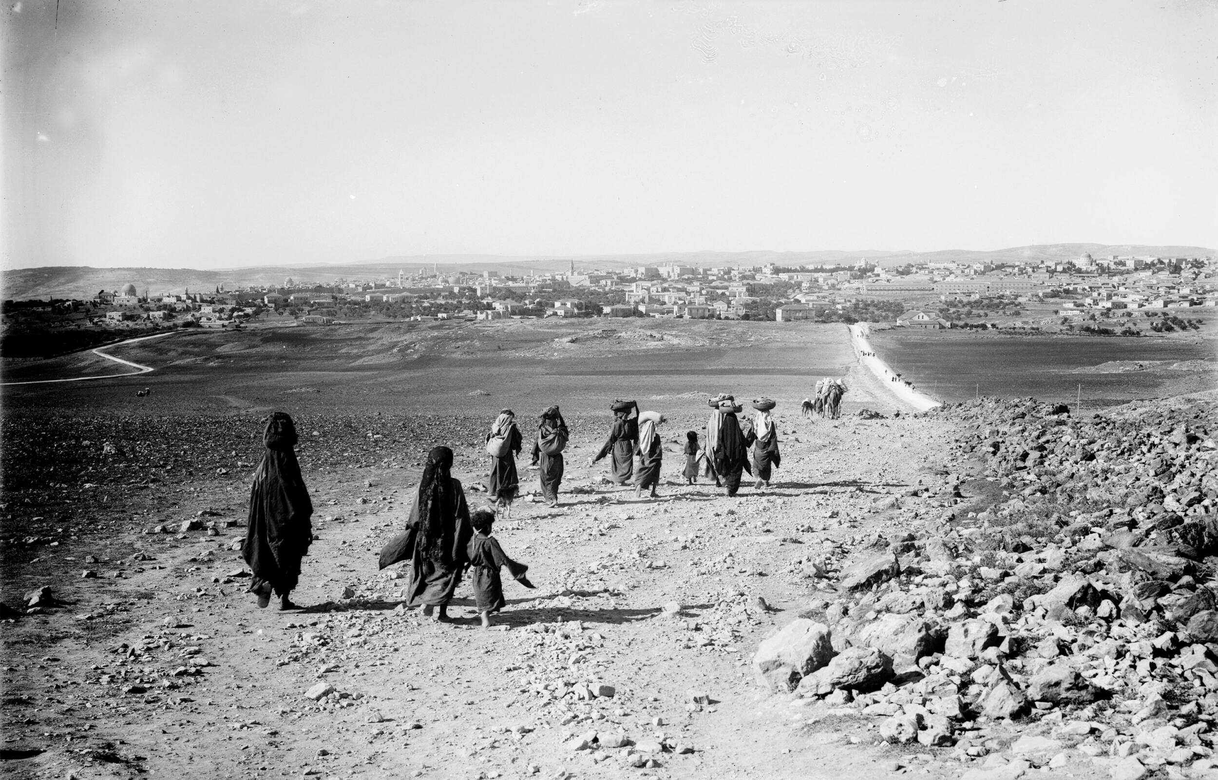 Jerusalem from the north, during the Mandate period, an image from Tom Suarez's book State of Terror