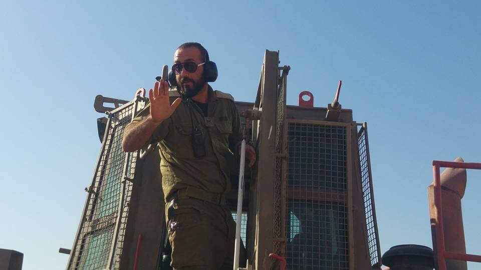 Israeli military bulldozer operator. (Photo: Guy Hirchfeld)