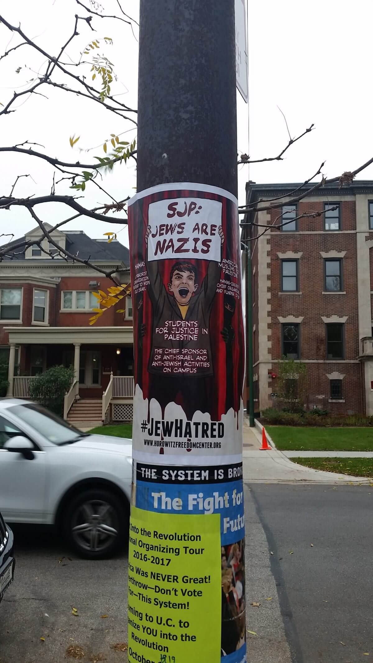 Posters on University of Chicago campus