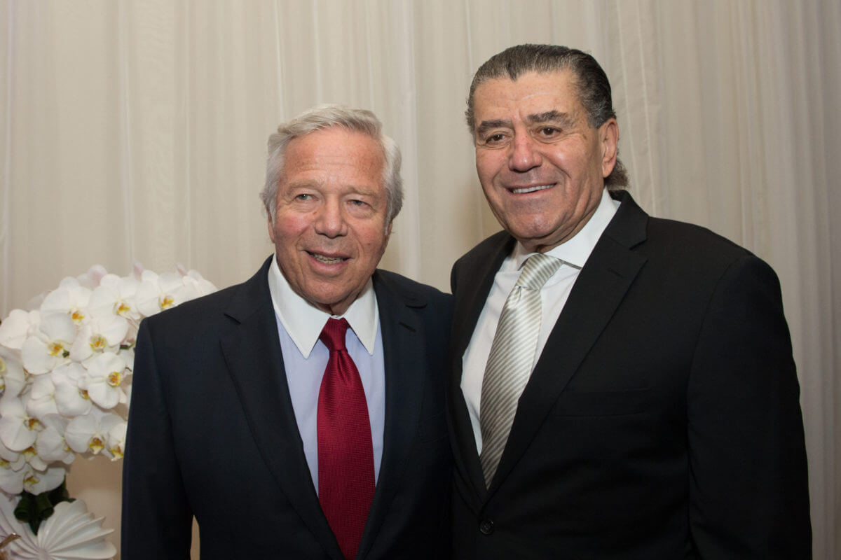 Robert Kraft and Haim Saban, Nov. 2016, from Jewish Insider, at the Friends of the IDF (FIDF) Western Region Gala Dinner 2016 at the Beverly Hilton in Beverly Hills, CA.