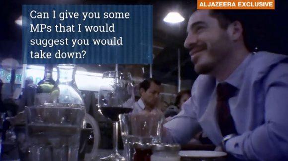 Israeli consular official Shai Masot, in the Al Jazeera video
