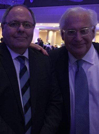 Israeli ambassador Dani Dayan and David Friedman, recent photo from Raphael Ahren twitter feed