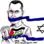 Omar Barghouti (Image: Carlos Latuff)