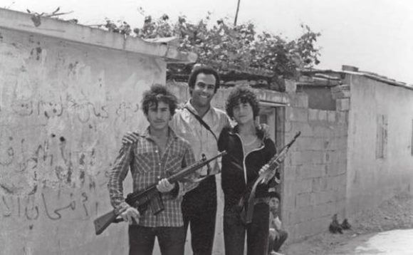 Huey P. Newton, co-founder of the Black Panther Party, at an unknown Palestinian refugee camp in Lebanon, 1980. (Photo: Dr. Huey P. Newton Foundation Inc./Department of Speical Collections and University Archives, Stanford University Libraries)
