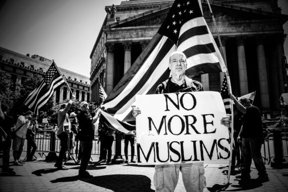 Protest against Islam at Foley Square in New York City, June 10, 2017. (Photo: Mark Peterson. markpetersonpixs @ Instagram)