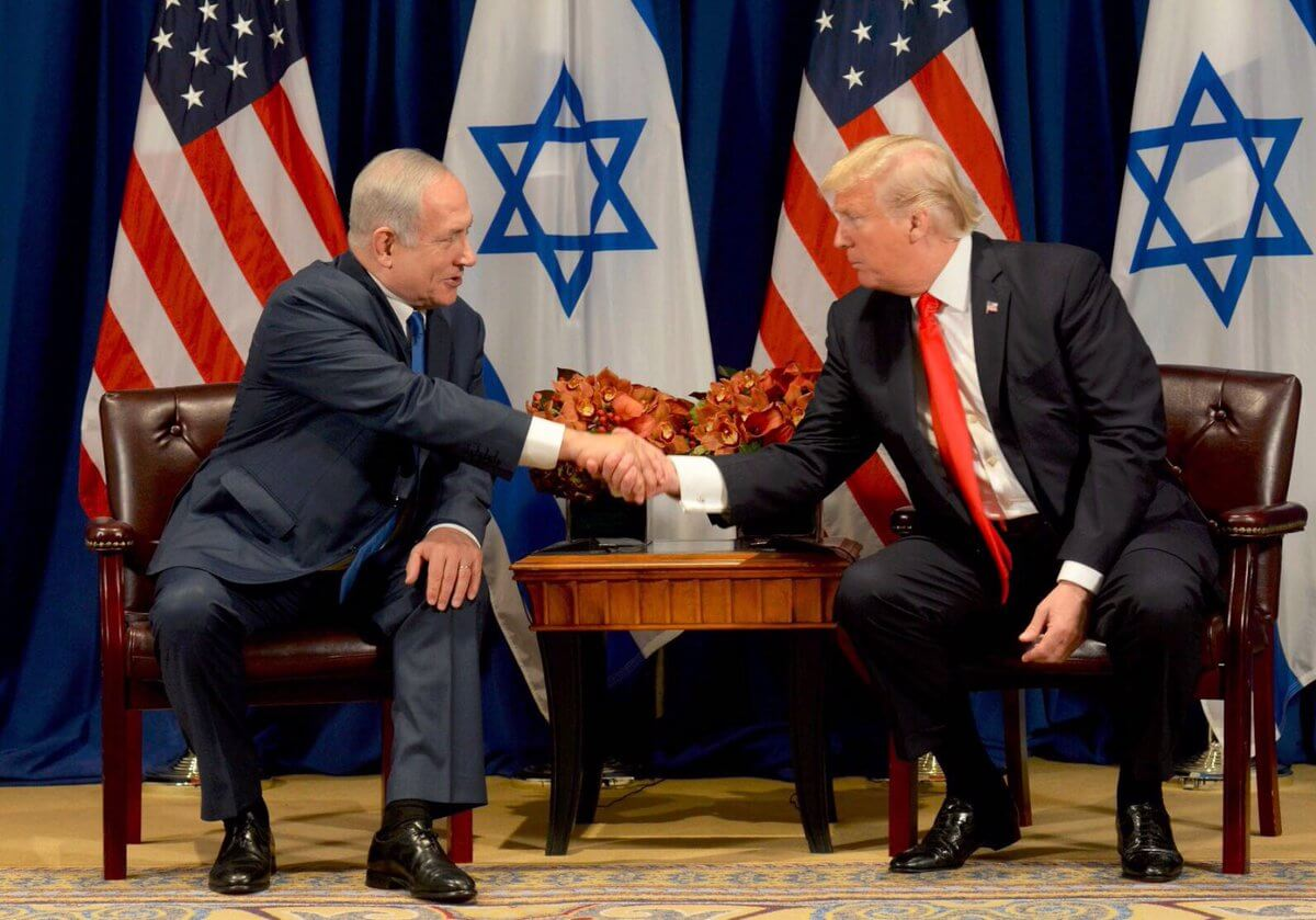 Netanyahu and Trump meet at the Lotte New York Palace Hotel on Madison Avenue. (Photo: (AP/Evan Vucci)