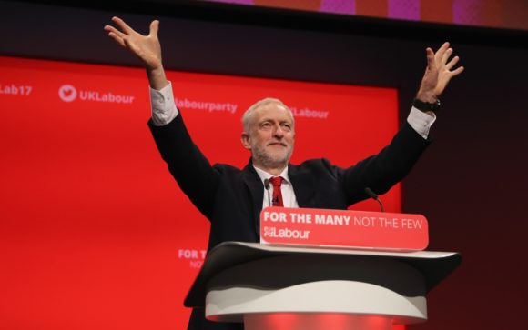 Jeremy Corbyn addresses the annual Labour Party conference in 2017. (Photo: Getty Images)