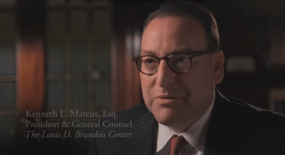 Kenneth Marcus speaking in a video for the Brandeis Center for Human Rights.