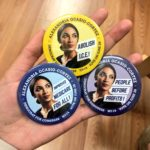 Buttons supporting Alexandria Ocasio-Cortez's campaign.(Photo: Alexandria Ocasio-Cortez/Twitter)
