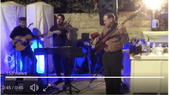 "Former Governor of Arkansas Mike Huckabee performs ""Sweet Home Alabama"" in Jerusalem on July 29, 2018."