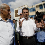 United Nations Relief and Works Agency (UNRWA) Commissioner-General Pierre Krahenbuhl visits the Palestinian families displaced at an UNRWA school in Rafah in the southern Gaza Strip, on August 17, 2014. (Photo: Abed Rahim Khatib/ APA Images)