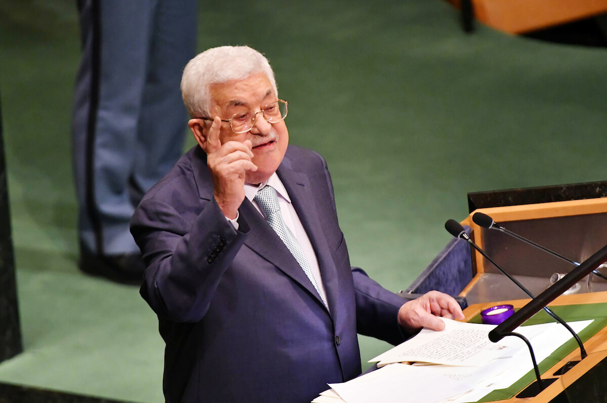 Palestinian President Mahmoud Abbas delivers a speech at the United Nations during the United Nations General Assembly on September 27, 2018 in New York City. (Photo: Thaer Ganaim/APA Images)